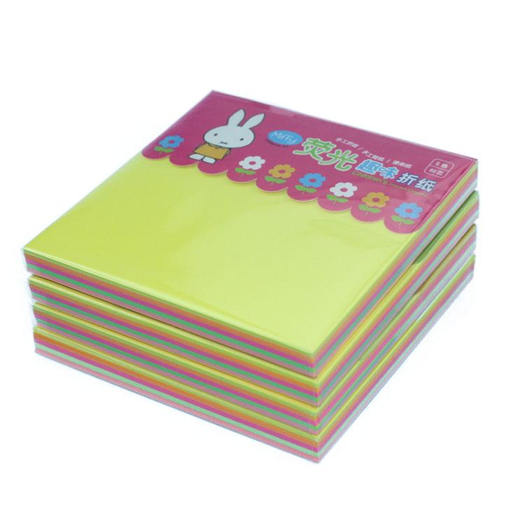 晨光9680手工5色荧光折纸经典米菲(图1)